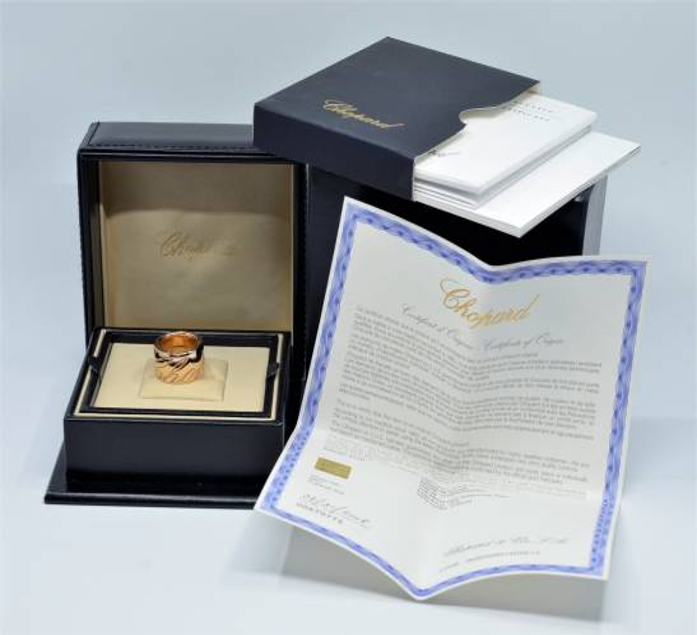 CHOPARD - spektakularna obrączka, złoto 750 / 22,60 gram !