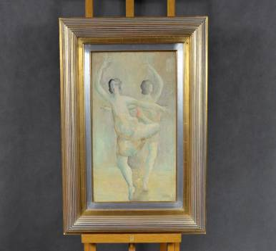 """Alicja Halicka """"Dwie baletnice"""", olej / płótno, lata 20. XX w."""