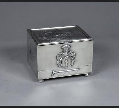 Biały Kruk !! Warszawa, srebro Alfreda Potockiego, lata 30. XX w.