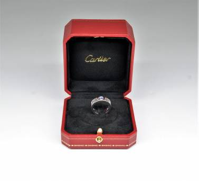 Cartier Love, złoto 750, obrączka wysadzana naturalnymi kamieniami