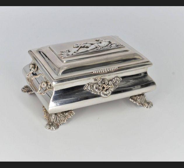 Czermiński / Radom , cukiernica srebro 12 łut , lata 40. XIX wieku