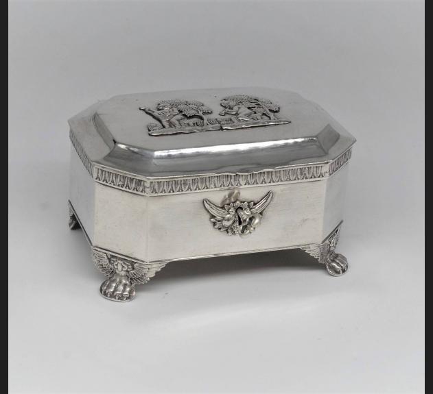 Malcz / Warszawa, cukiernica srebro 12 łut ok. 1840 roku