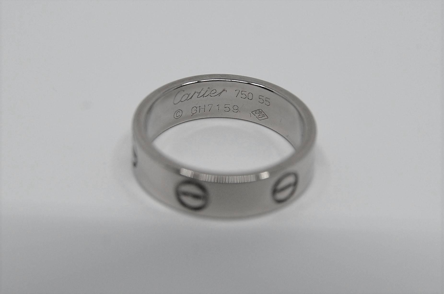 Poważne CARTIER LOVE, obrączka białe złoto 750 ES38